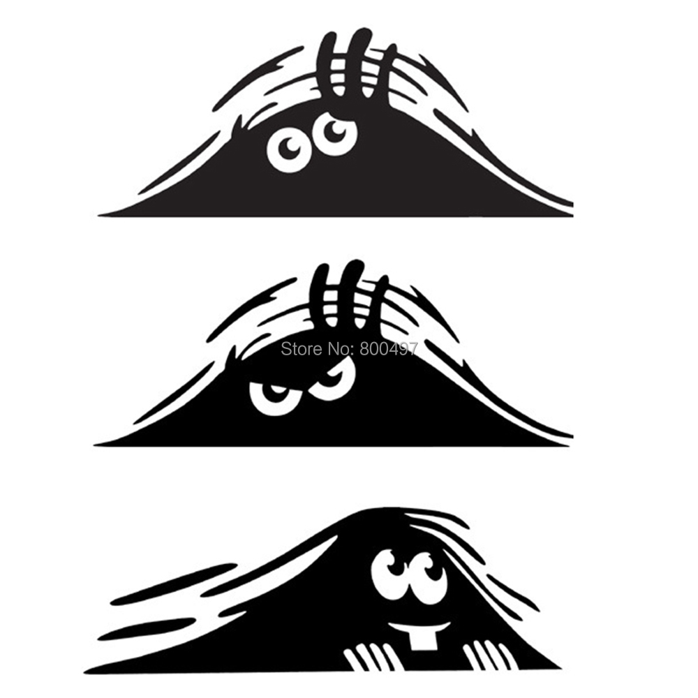 Newest Car Styling Dune Sand Monster Peeping Peering Car Sticker Decal for Toyota Peugeot Fiesta Opel Chevrolet VW Kia Ford Lada