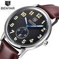 Mens Relojes de Lujo Superior de la Marca Deportes Correa de Cuero Marrón Reloj de Cuarzo Militar Del Ejército Reloj de Los Hombres Del Reloj del relogio masculino