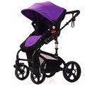 Nova Moda de Luxo Carrinhos de Bebê Carrinhos de Bebê dobrável absorção de choque da liga de Alumínio de Alta Paisagem Passeggino para recém-nascidos infan
