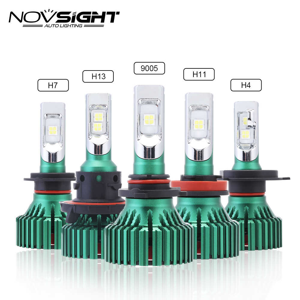 NOVSIGHT H4 led HB2 9003 H7 H11 H8 H9 Car Led Headlights 60W 16000LM 9005 9006 Play and Plug Fog Light Lamps Bulbs 6500K