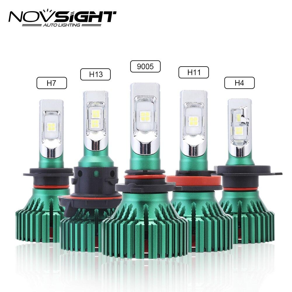 NOVSIGHT H4 HB2 9003 H7 H11 H8 H9 Voiture Led Phares 60 w 16000LM 9005 9006 Jouer et Pluy Brouillard lumière Lampes Ampoules 6500 k D45