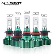 NOVSIGHT H4 led HB2 9003 H7 H11 H8 H9 светодиодные фары автомобиля 60 Вт 16000LM 9005 9006 играть и Подключите Туман света лампы накаливания 6500 K