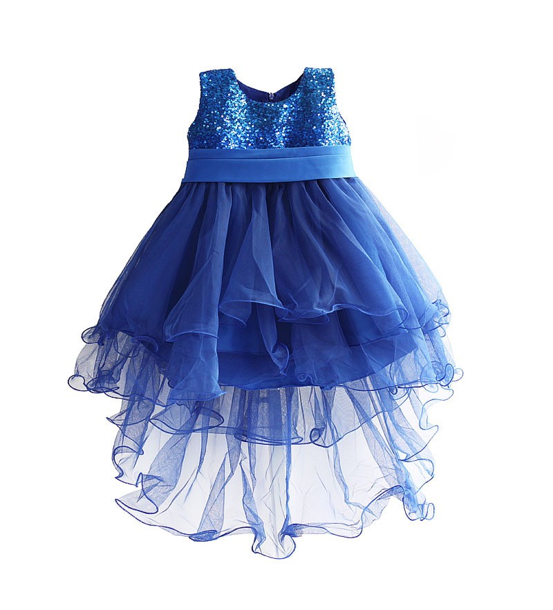 Girls Sequins Party Dress 2017 New Cute Kids Embroidery Flowers Dresses Tutu Princess Dresses Baby Clothes 3-8y Girl Clothing