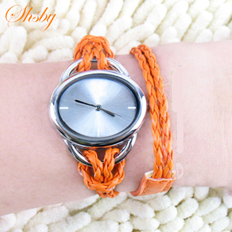 Watches Quartz Watches Helpful Shsby New Fashion Lady Women Dress Quartz Watches Long Weaving Leather Knit Strap Bracelet Wrist Watch Oval Girl Students Watch Elegant Appearance