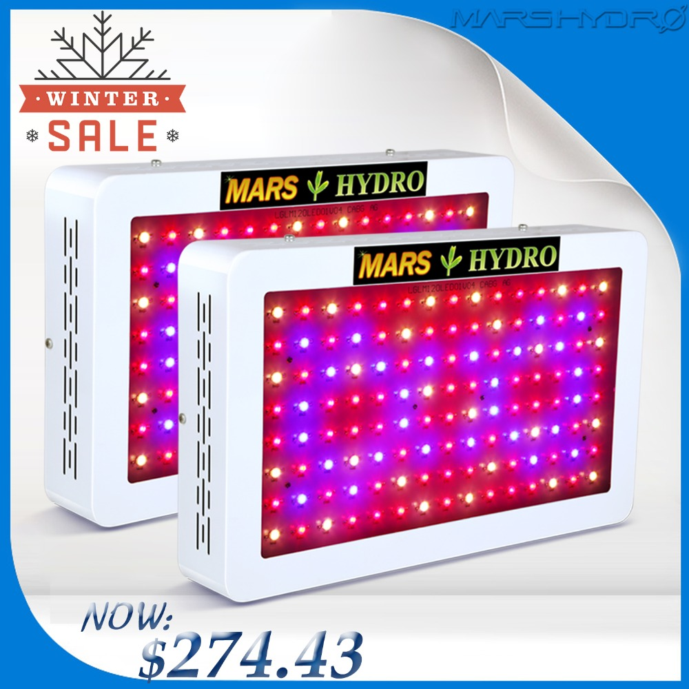 2 pcs Mars Hydro 600 W LED Coltiva La Luce Spettro Completo Idroponico Sistema di Impianto Al Coperto per Crescere Tenda, Serra