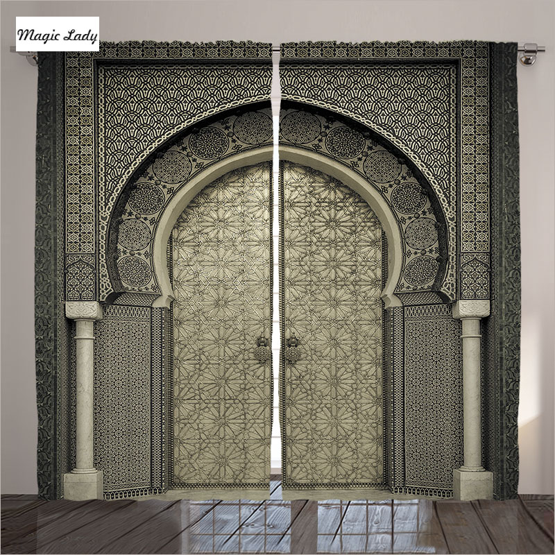 Kitchen Entrance Curtain: Curtains Kitchen Door Moroccan Decor Gate Geometric