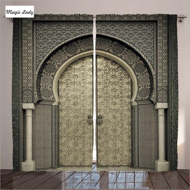 curtains kitchen door moroccan decor gate geometric pattern entrance rh aliexpress com