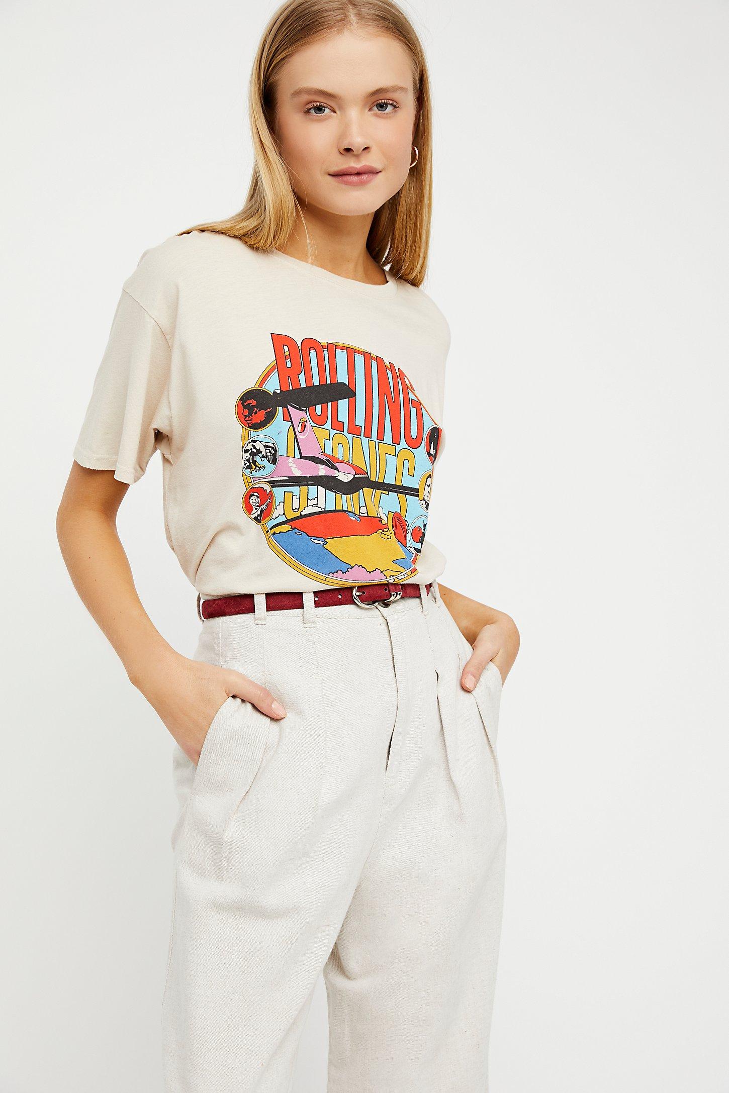 830d1b9a060e59 Jastie Stones Around The World Tee   Tops O-Neck Short Sleeve T-shirt 2018  Summer Women Shirt Top Casual Female Clothing