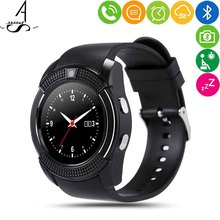 ФОТО ahssuf smartwatch phone round sim card bluetooth music smart relogios calculator pedometer consumer electronics for ios android
