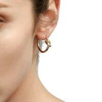 Enfashion Hurtownie Klasyczne Knot Hoop Kolczyki Złoty kolor Kolczyki Okrągłe Kolczyki Dla Kobiet Biżuteria oorbellen ohrringe