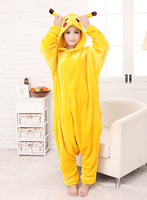 Kostenloser versand Onesie Nachtwäsche Cosplay Kostüm Pokemon Pikachu Pyjamas Adult Pyjama-party hot body
