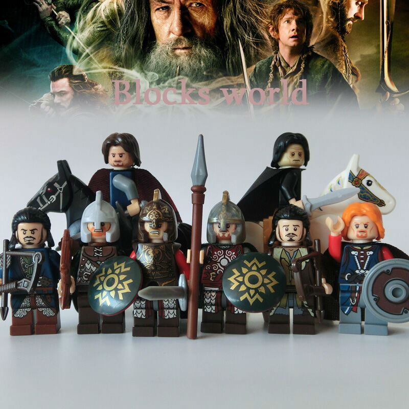 10pcs Building Blocks lord of the rings hobbit Rohan soldiers The horse compitble with decool pg931 the hobbit desolation of smaug 79018 the lonely mountain dol guldor battle building blocks educationa compatible with lpin