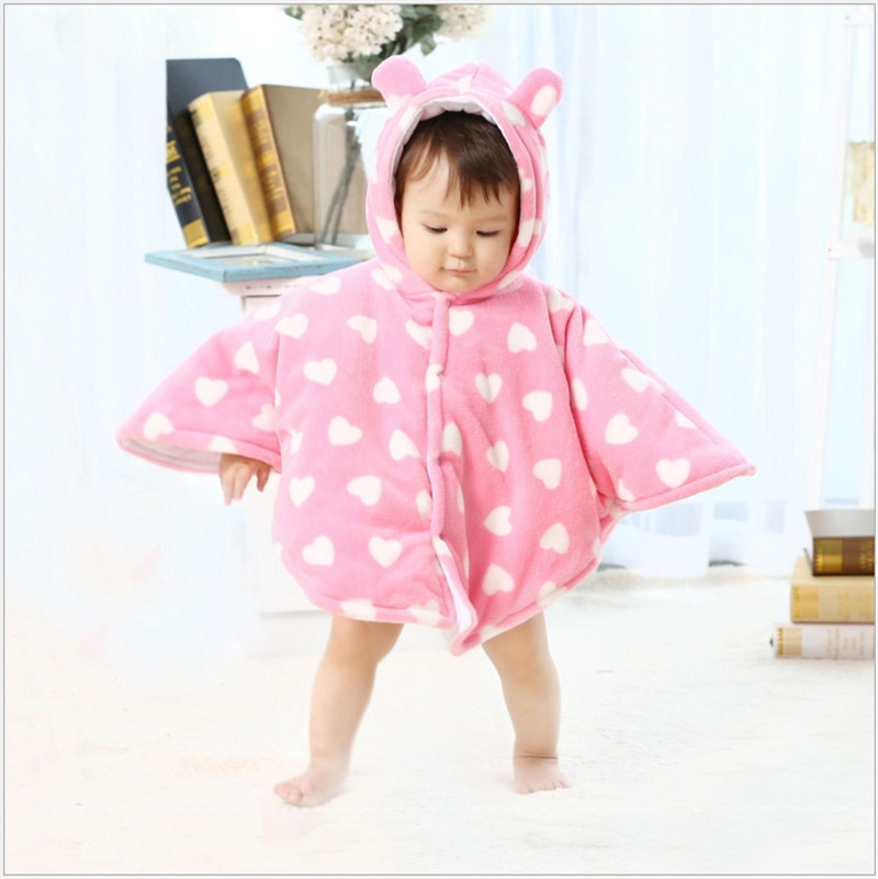 2016 New Fashion Chidren Fur 5 Coros Cloak Autumn And Winter Warm Cotton High Quality Thick Coral Velvet Cloak For Children