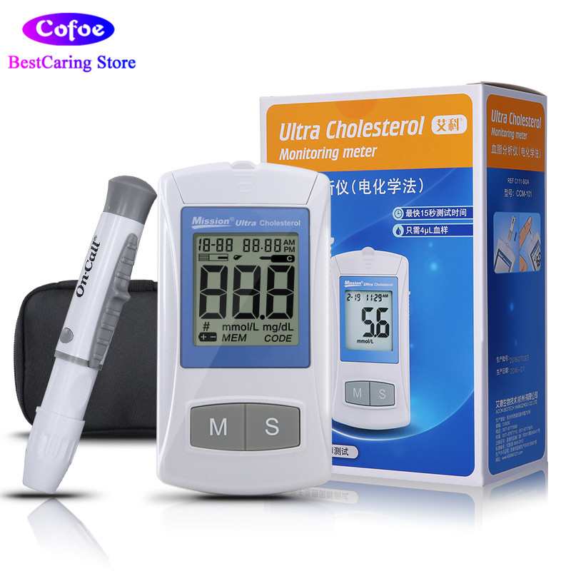 On Call Ultra Cholesterol Meter Blood Lipid Analyzer Blood Fat Monitor for Total Cholesterol with Test