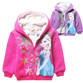 Anime Elsa Baby Girls Kids Outerwear winter Next 2016 Children Girls Sports Outerwear Child bomber Winter Jackets For Girls