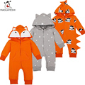 Spring Baby Rompers Cute Cartoon Long Sleeve Hooded Rompers One Pieces Clothing Set Overall Roupas Bebes For Baby Girls Clothes