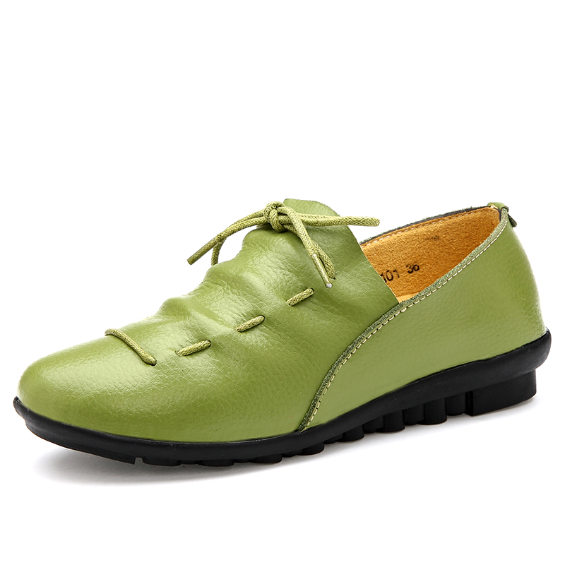 Women Genuine Leather shoes Super soft comfortable shoes woman Moccasins Woman's Leisure Flats Female Driving Shoes Flat Loafers