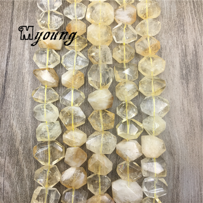 Polished Faceted Citrines Nugget Beads,Polyhedral Yellow Crystal Loose Drilled Beads,Crystal Quartz Beads MY1560 jupiter люстра jupiter oslo 1236 os 3 ch