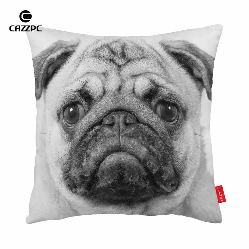 أبيض وأسود سوء لطيف الصلصال كلب طباعة سيارة الديكور المخدة وسادة تغطي أريكة ديكور المنزل