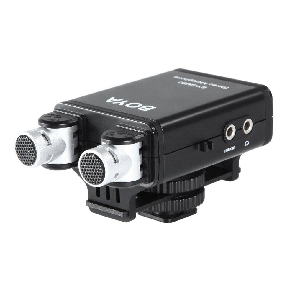 BOYA BY-SM80 Bi-directionnel Stéréo Vidéo Microphone avec Pare-Brise pour Canon Nikon Pentax Dslr Caméscope