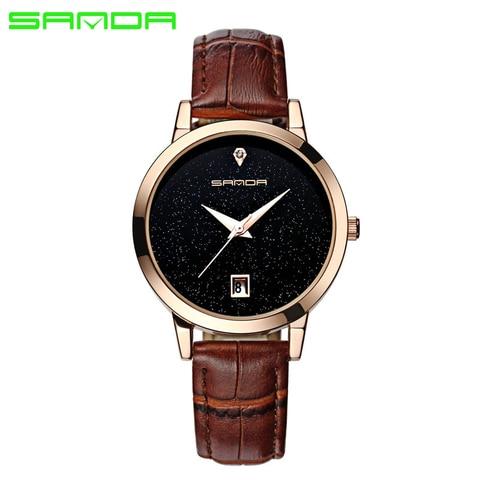 SANDA 2018 Fashion Watches Women Watches Ladies Luxury Brand Quartz Watch Women Clock Relogio Feminino Montre Femme Multan