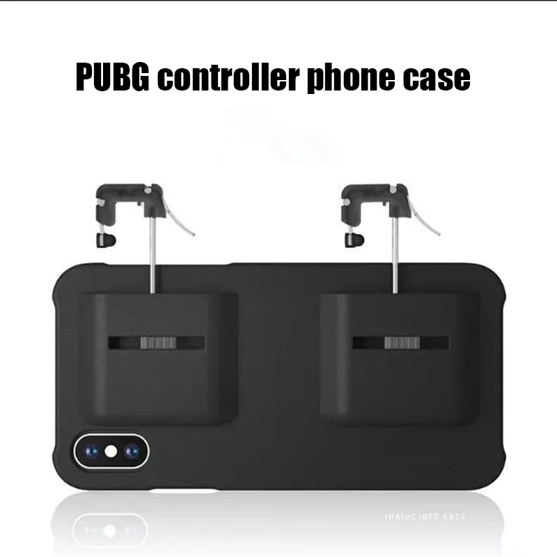 2 in 1 Mobile Game PUBG Controller mobile phone Case PUGB Mobile Joystick Gamepad for iPhone 6 6S 7 8 Plus X XR XS MAX cover in Half wrapped Cases from Cellphones Telecommunications