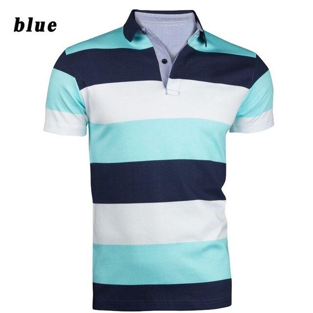 ae4fe4e22 Zogaa Camisas Pólo de Moda masculina Listrada Polos Homens Casuais Camisa  Pólo de Manga Curta Contraste