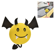 1 Pcs Yellow Devil Antenna Topper Eva Decorative Car Topper Balls Car Inner Accessories