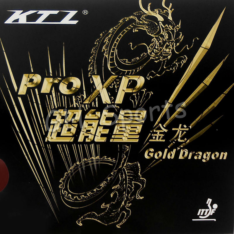 KTL Pro XP (Pro-XP) Gold Dragon Pips-In Table Tennis (PingPong) Rubber With Sponge