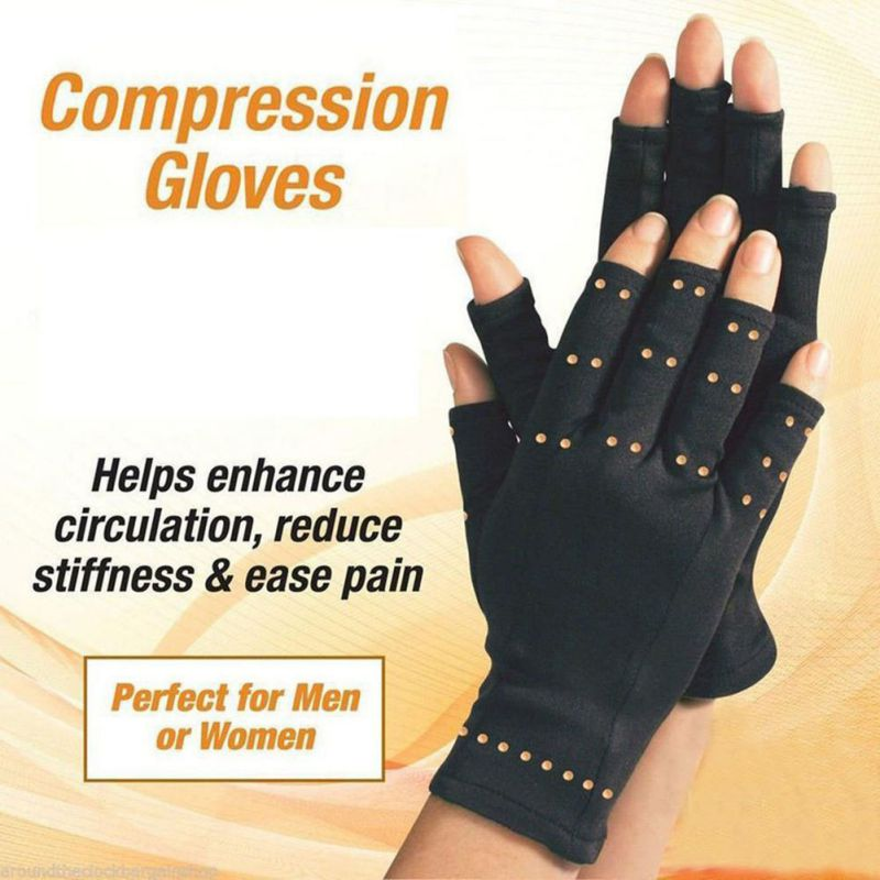 1pair  Copper Hands Arthritis Gloves Therapeutic Compression Men Woman Circulation Grip