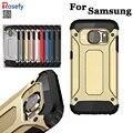 Cubierta de lujo armor tough case para samsung galaxy s5 s6 edge plus S7 Borde Nota4 Note5 J5 J7 A5 A7 Teléfono Móvil Contraportada Coque Fundas
