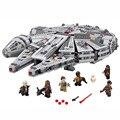 2016 Star Wars Halcón Milenario del Espacio Ultraterrestre Space Ship Building Blocks Juguetes Modelo de Regalo de Navidad para Niños