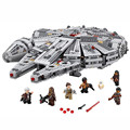 2016 Star Wars Millennium Falcon Outer Space Space Ship Building Blocks Model Toys Christmas Gift for Children