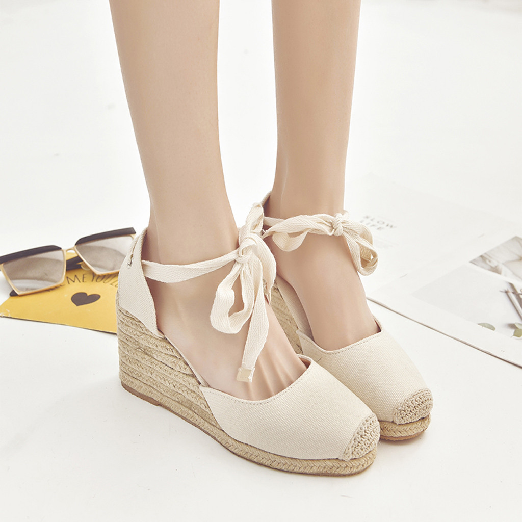 Shoes Woman Sandalias Fashion Wedges Casual for Summer Zapatos Mujer