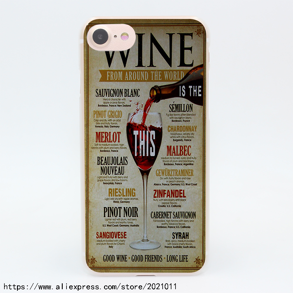 2039X WINE FROM AROUND THE WORLD Hard Transparent Case for iPhone 7 7 Plus 6 6S Plus 5 5S SE 5C 4 4S