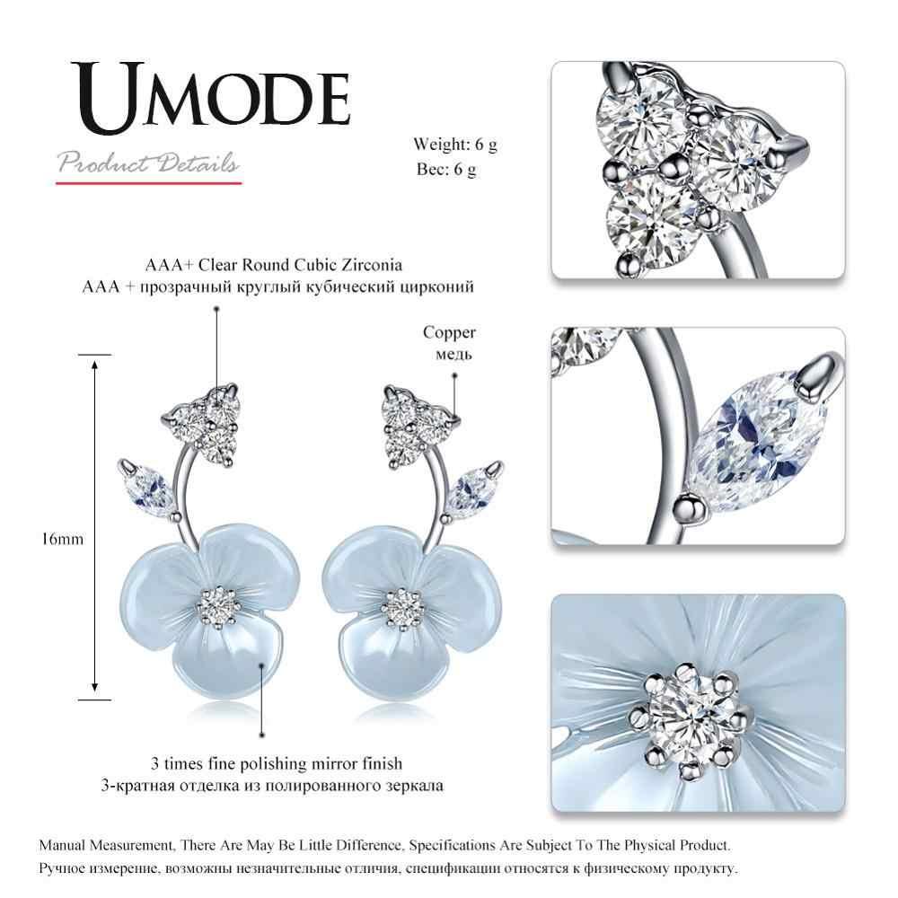 Umode Wanita Lucu Bunga Anting-Anting Anak Perempuan Sederhana CZ Stud Anting-Anting Korea Fashion Kecil Zirkonia Perhiasan Mewah Aksesoris UE0371
