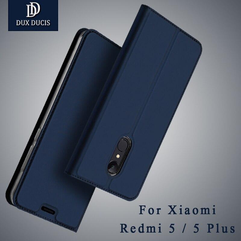 Redmi 5 Plus DUX DUCIS Flip PU Étui En Cuir Pour Xiaomi Redmi 5 Plus 2017 Mondiale Portefeuille Couverture pour Xiomi redmi 5 5 Plus Capa Funda
