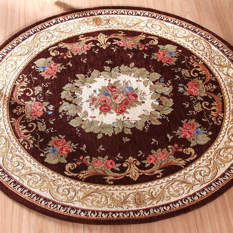 Mat For Home Parlor Bedroom Living Room 9 Dimensions: 100% High Quality Round Jacquard Carpet Water Absorption