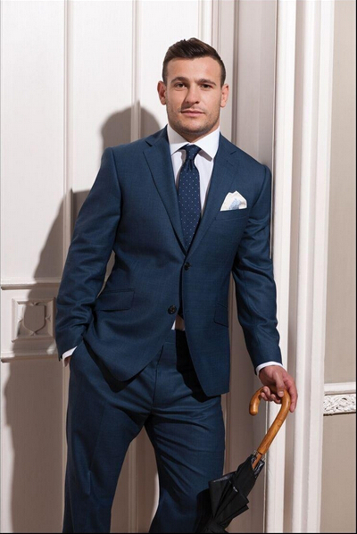 Navy Wedding Suits For Men - Ocodea.com