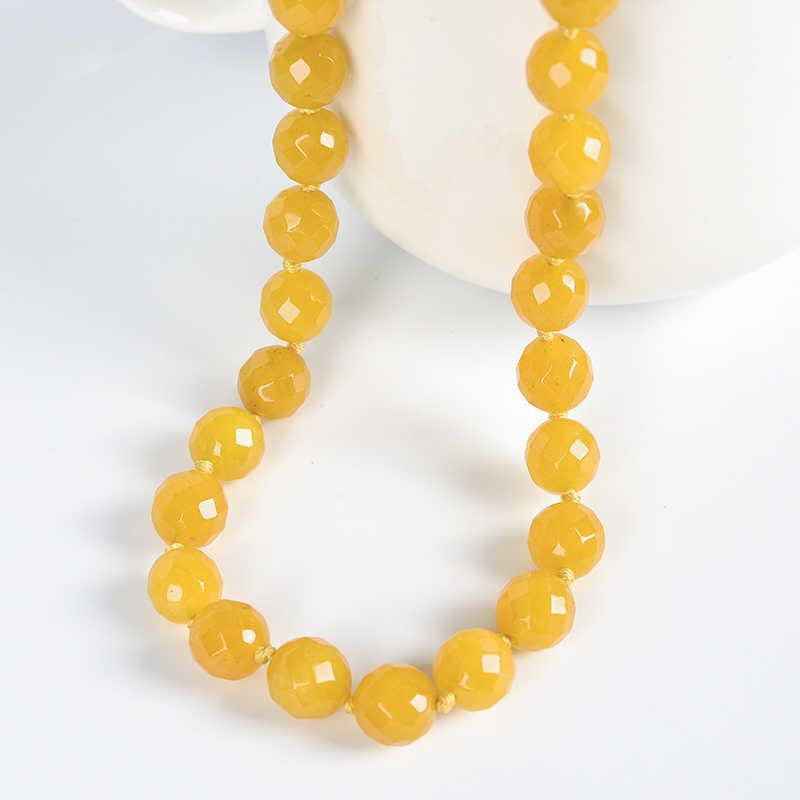 พราวสีเหลืองสดใส sheen Topaz jasper สร้อยคอสำหรับ handmade diy Topaz สร้อยคอ jasper