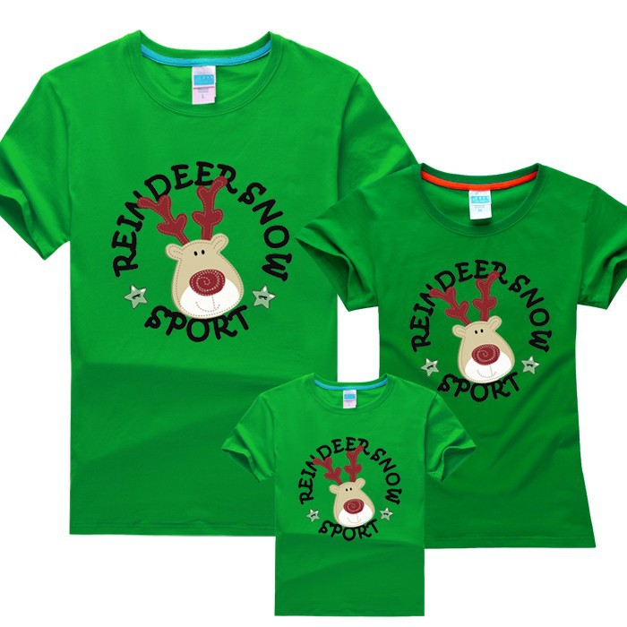 Parent Child Christmas Short Sleeved T shirt Sweet clothing for ...