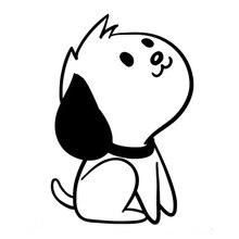 10cm*15cm Cartoon Pet Dog Animal Car Accessories Stickers Decals Art Painting Car Stickers Vinyl Decor Decals стоимость