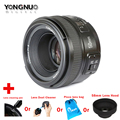 Yongnuo 50mm F1.8 1:1.8 Standard Prime Lens Auto Manual Focus AF MF for Nikon Camera Cleaning Kits Pen Lens Bag 58mm Lens Hood
