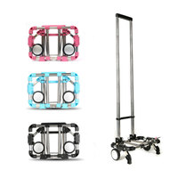 Full folding luggage cart home portable shopping cart multi functional stainless steel cart