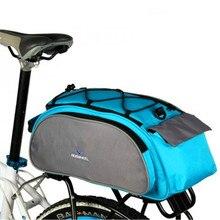 Riswheel Bike Bicycle Bags 13L Multifunction Bike Tail Rear Bag Saddle Cycling Bags Rack Trunk Shoulder