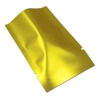 Multi Sizes Matte Golden DHL Aluminum Foil Vacuum Coffee Beans Package Pouches Heat Seal Mylar Pack Flat Vacuum Storage Tea Bag