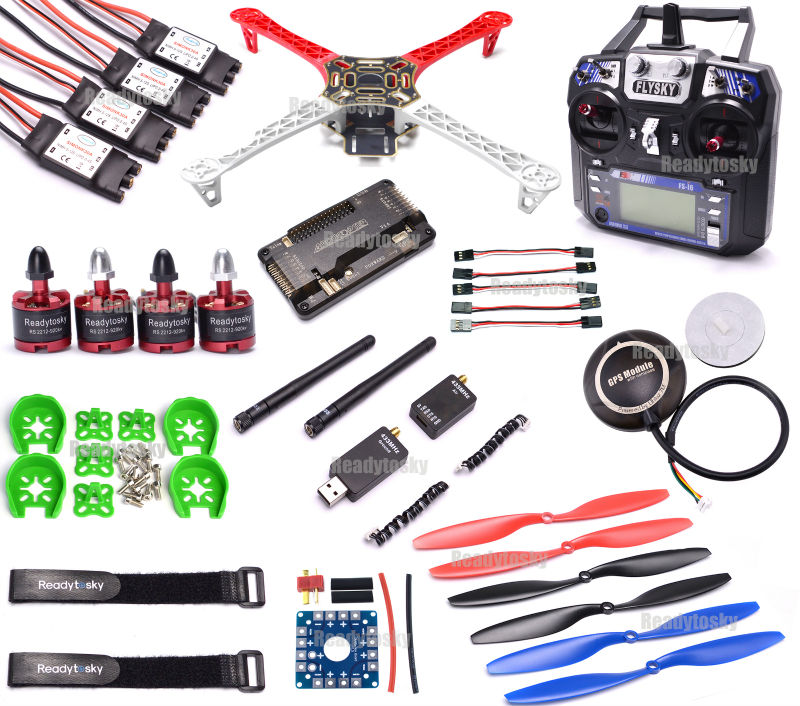 F450 multi-вертолет Quadcopter Rack Kit Рамки APM 2.6 7 м GPS 2212 Двигатель 30A Simonk ESC 433/915 телеметрии 1045 опорой супер комбо