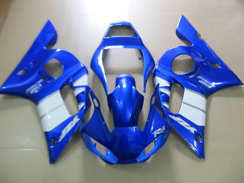 Motorcycle Fairing kit for YAMAHA YZFR6 98 99 00 01 02 YZF R6 YZF600 1998 2000 2002 ABS white blue Fairings set+7gifts YD01