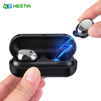 HESTIA M9 TWS Bluetooth Earphone Wireless Earbud Metal Charge Case Bluetooth Headset For Phone Mic For