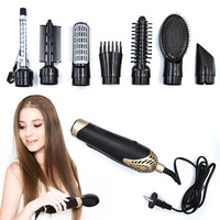 9Pcs Professional Hair Dryer Combs Hair Styling Tools Curl Hair Tools Rollers Detachable Brush Tool Functional